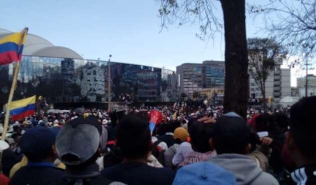 Indígenas se preparan para la gran marcha en Quito