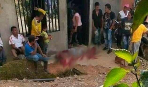 Flower Jair Trompeta Paví fue asesinado en la vereda La Laguna, zona rural de Corinto (Cauca).