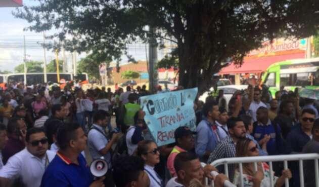 Protesta escrutinios Cartagena