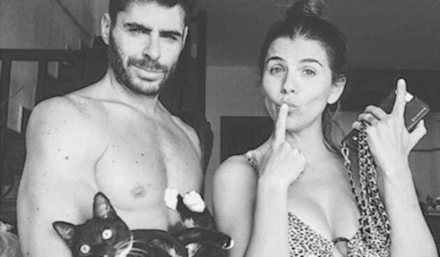 María Fernanda Yepes y novio