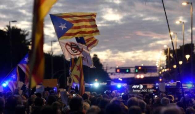 Movilizaciones en Cataluña, España