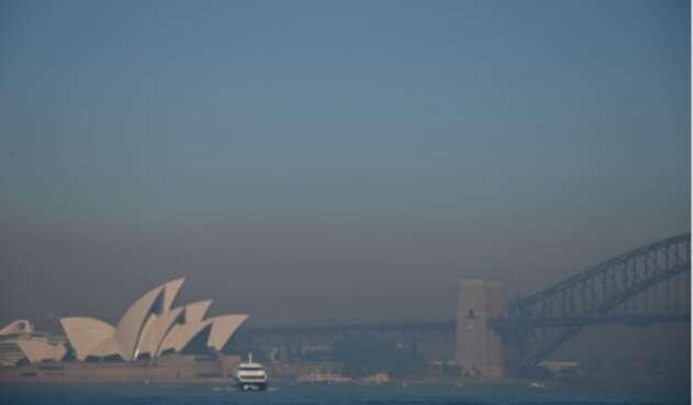 Contaminación del aire en Sídney, debido a incendios forestales.