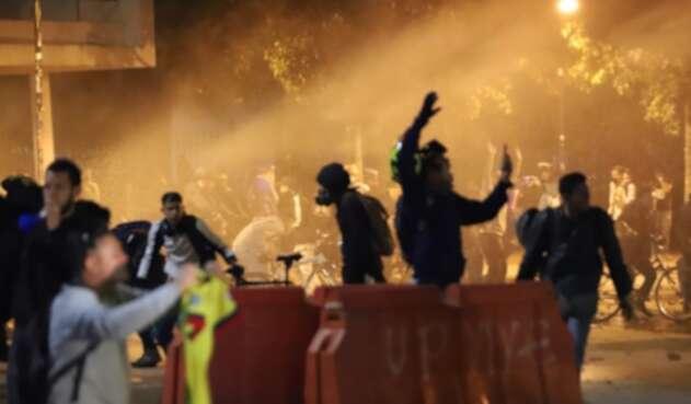 Protestas en Bogotá el martes 26 de noviembre