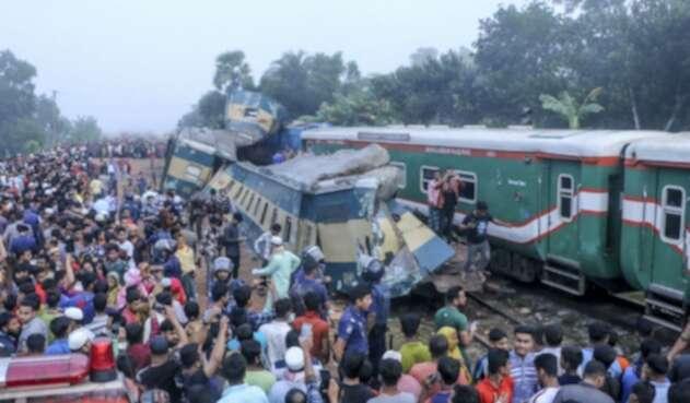 Accidente de tren en Bangladesh