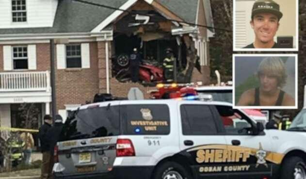 Accidente de vehículo Porsche en Nueva Jersey.