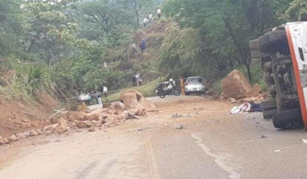 Accidente de tránsito en vía Ortega - Chaparral