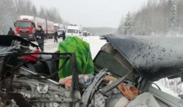 Accidente en Rusia