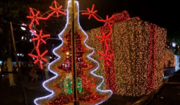 Alumbrado navideño en Cartagena