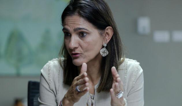 Ángela MaríaOrozco, ministra de Transporte