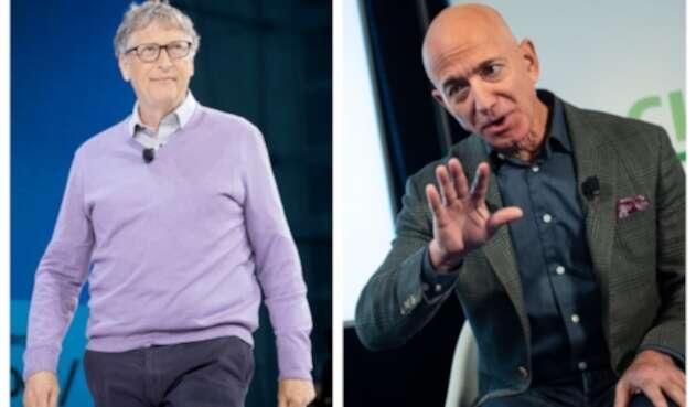Bill Gates y Jeff Bezos, los hombres más ricos del mundo.
