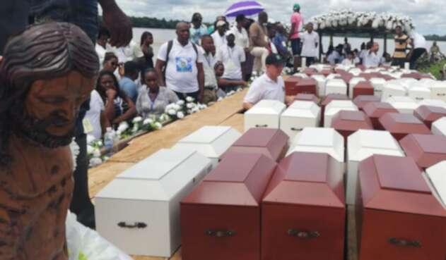 Víctimas de masacre en Bojayá