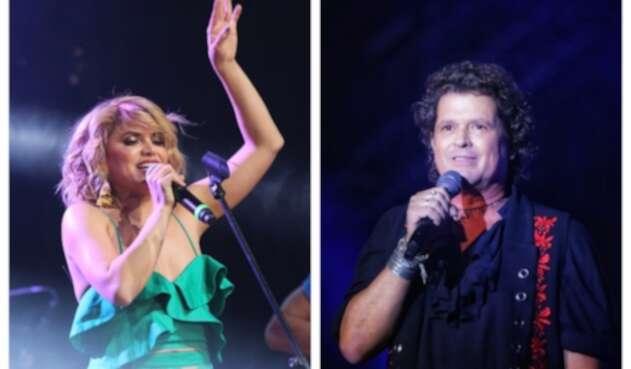Adriana Lucía y Carlos Vives