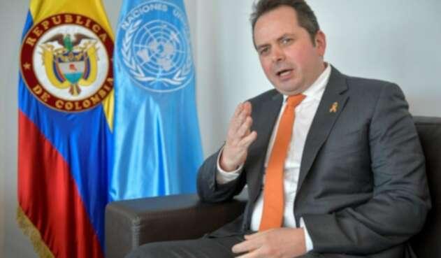 Carlos Ruiz Massieu, jefe de la Misión de verificación del Acuerdo de paz de la ONU