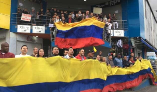 Comerciantes en San Victorino (Bogotá)