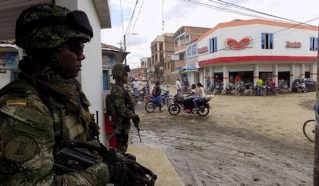 Fuerzas Militares en Corinto (Cauca)