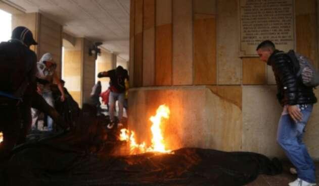 Disturbios en paro 21 de noviembre