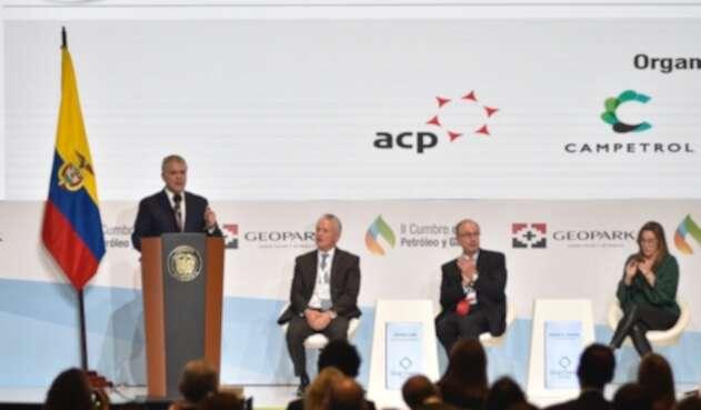 Presidente Iván Duque en clausura de cumbre del Petróleo y Gas