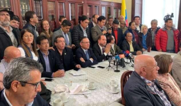 Comité nacional de paro y Congreso de la República