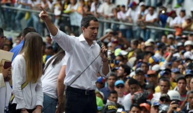 Juan Guaidó en protestas en Venezuela