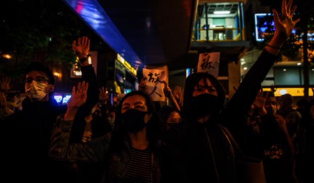 Manifestaciones pacíficas en Hong Kong