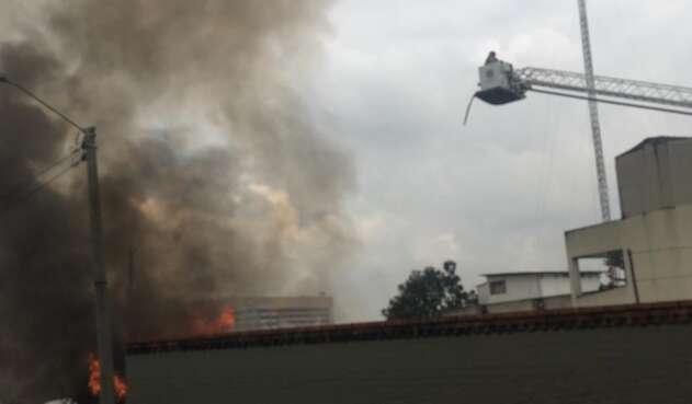 Incendio en el centro de Bogotá