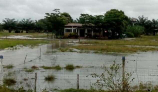 En la zona ha llovido fuertemente en las últimas horas, advirtieron los pobladores.