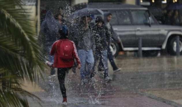 Lluvias en Bogotá referencia