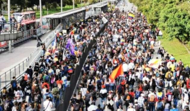 Marchas en Bogotá hacia la 100