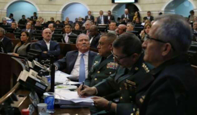 Ministro Guillermo Botero en debate de moción de censura