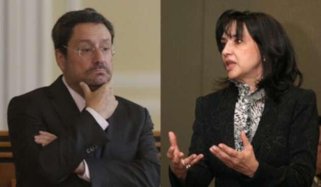 Pacho Santos y Claudia Blum, en medio de una dura polémica.