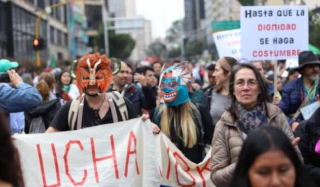 Los colombianos empezaron a protestar este jueves en rechazo del gobierno de Iván Duque