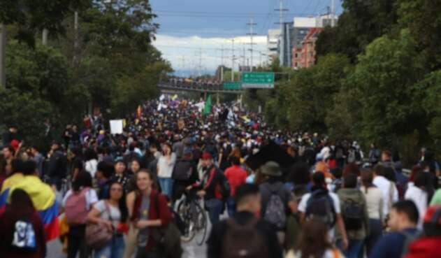 Esta es la primera manifestación, desde el pasado 21 de noviembre que se toma la Autopista Norte.