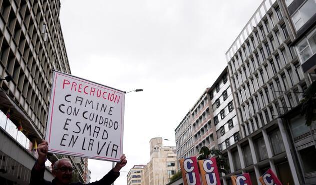 Paro nacional -bloqueos Plaza de Bolívar