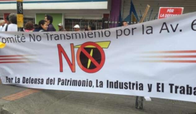 Protestas contra Transmilemio por la 68