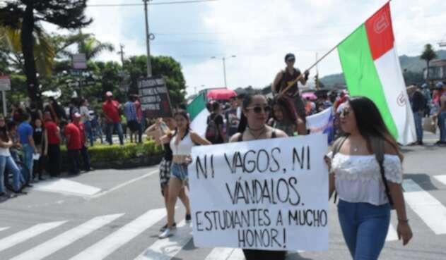 Protestas en la Universidad del Tolima