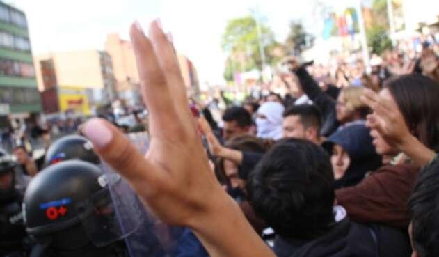 Protestas en la Universidad Distrital