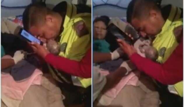 Policía salva la de vida de bebé