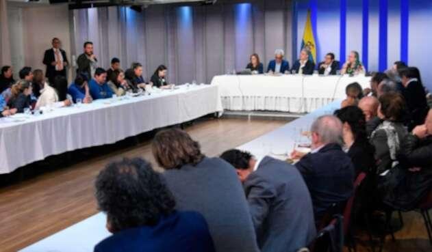 Reunión Duque en diálogo social (1)