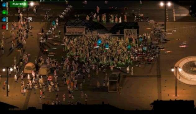 Riot juego que simula protestas