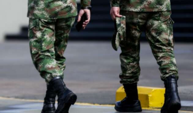 Soldados del Ejército Nacional