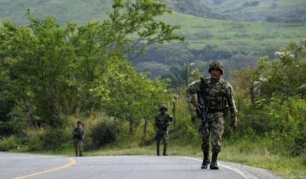 Soldados en Corinto, Cauca