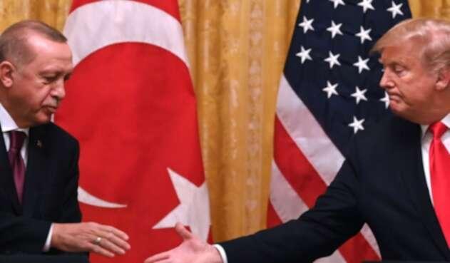 Recep Tayyip Erdogan y Trump reunidos en la Casa Blanca