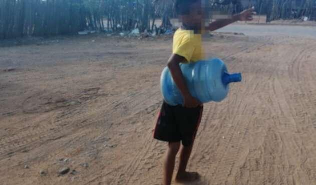 Falta de agua en La Guajira.