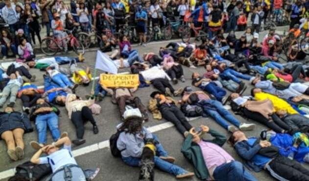 Manifestación por la salud de Dilan Cruz