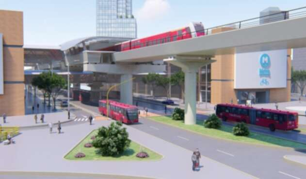 Proyección de lo que será la primera línea del metro para Bogotá