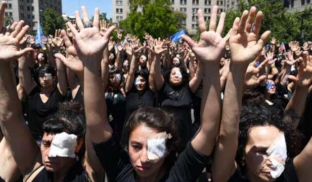 Lesiones en los ojos durante protestas