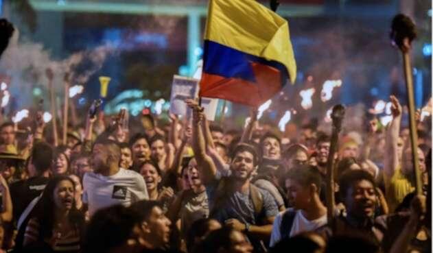 Manifestaciones y marchas en Bogotá.