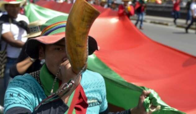 Comunidades indígenas participaron en el paro nacional