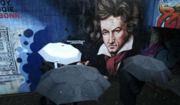 Grafiti de Beethoven en Alemania