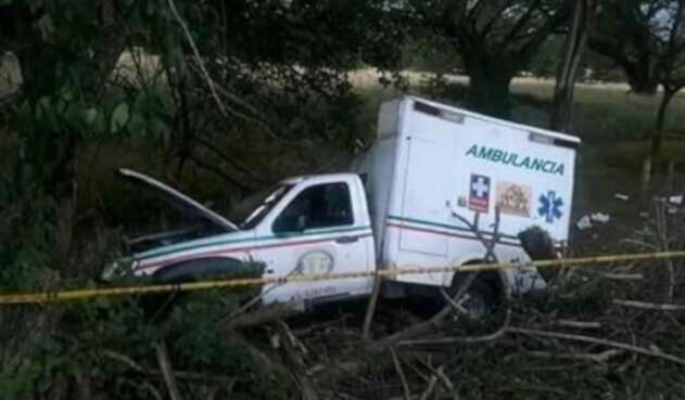 Accidente de una ambulancia en el Cesar